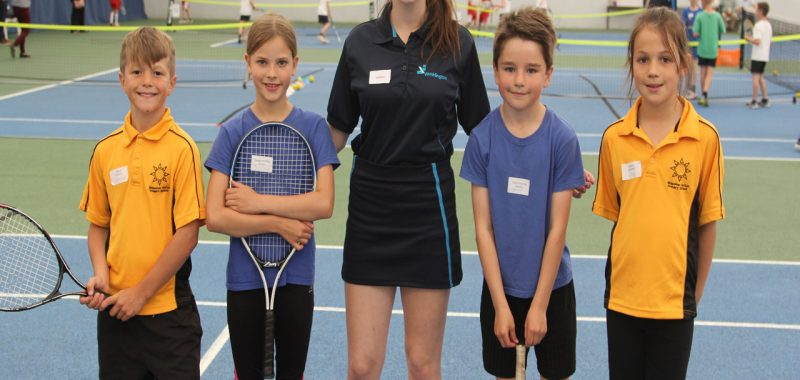 Students Host Primary Tennis Competition