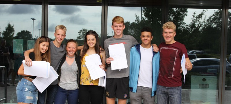 Writhlington Students celebrate GCSE successes 2017