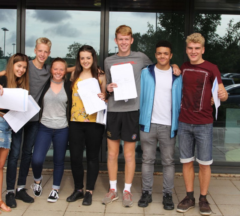 Writhlington Students celebrate GCSE successes 2017