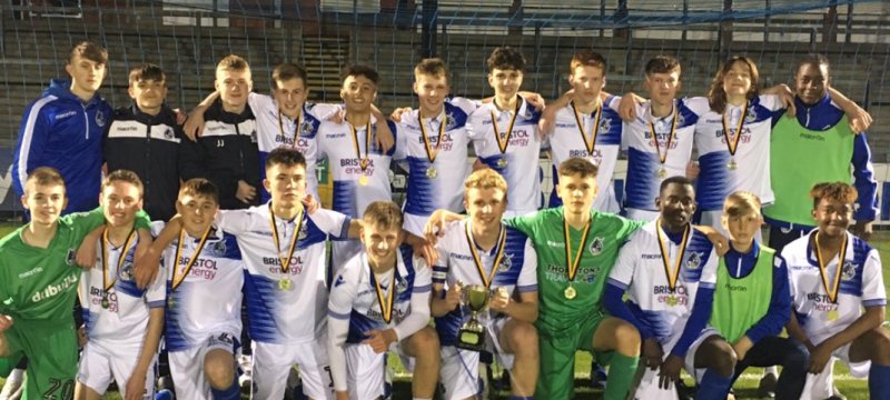 Year 10 student helps U16 Bristol Rovers win Severn Bridge Cup