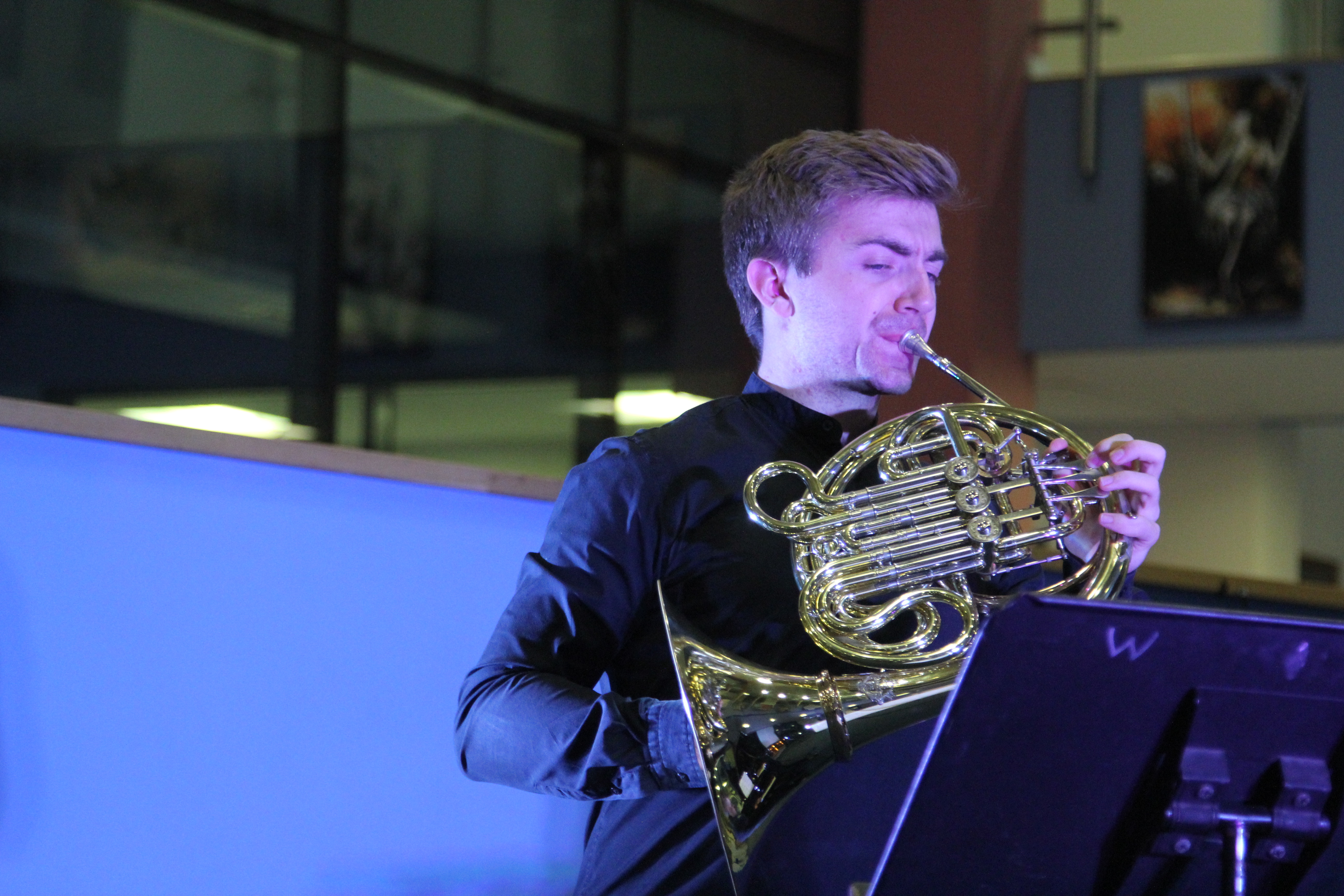 Ben Goldschieder performs at Writhlington School
