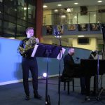 Ben Goldscheider and Richard Uttley perform at Writhlington School
