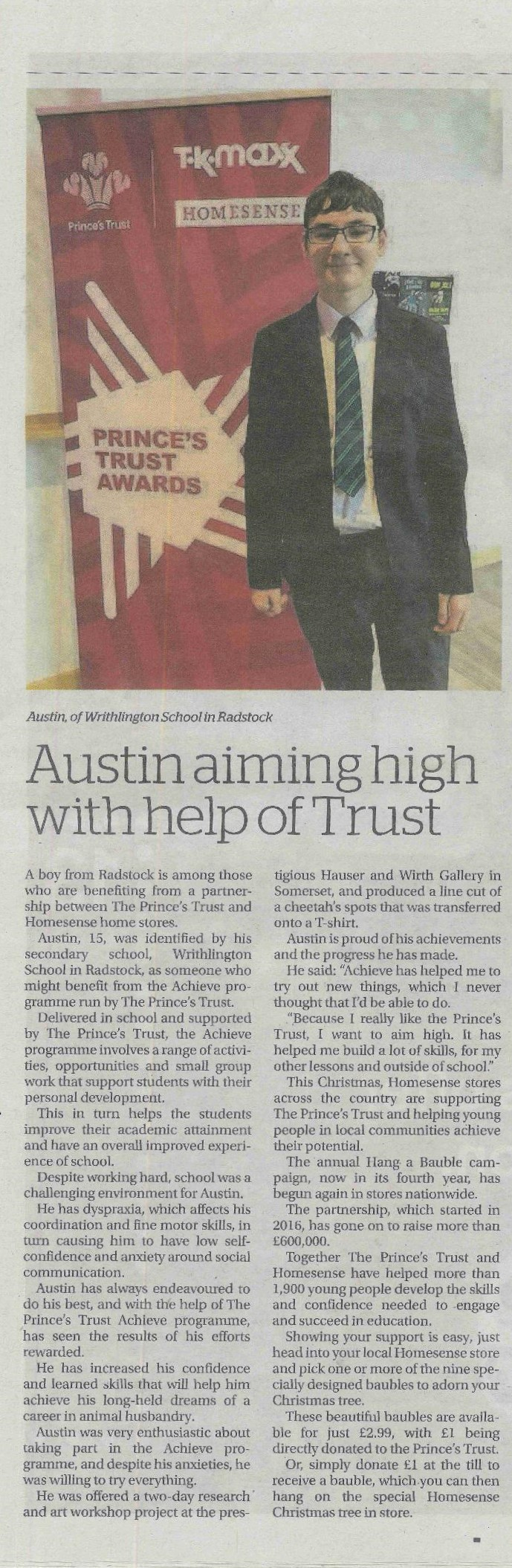 Austin and The Princes Trust